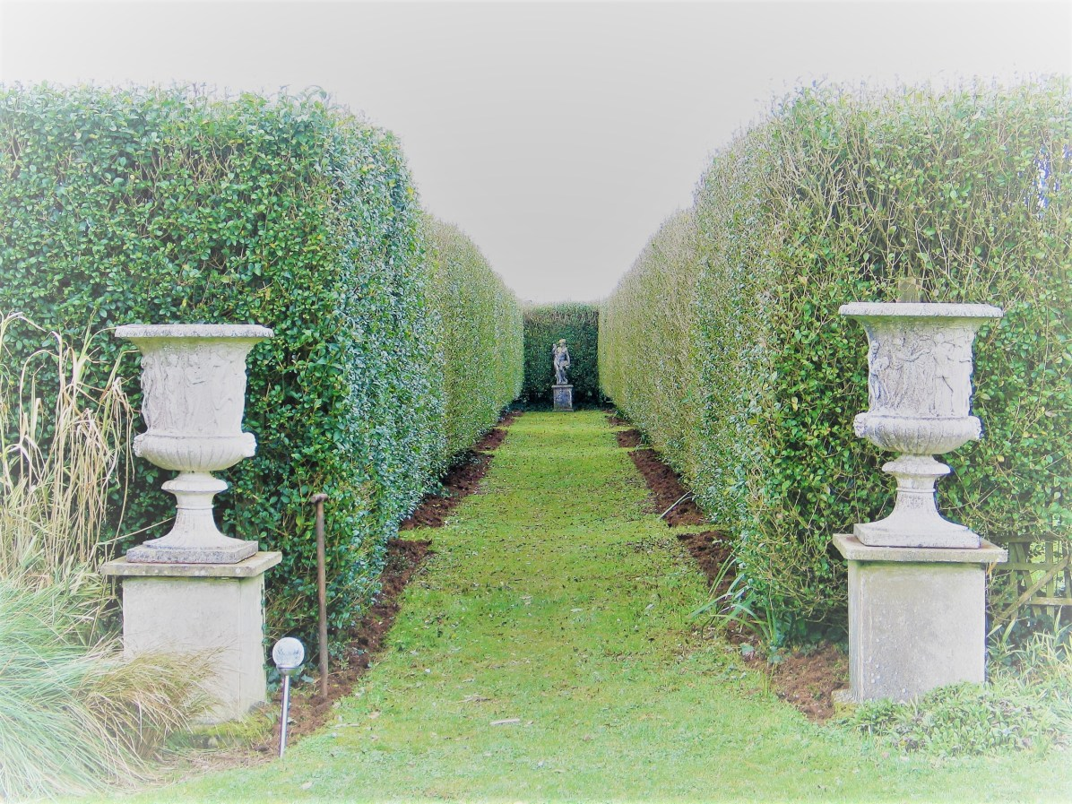 Main entrance - February in the Italian Garden