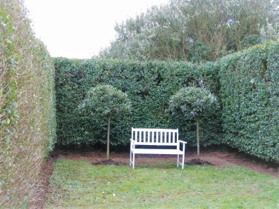 Italian Garden tranquil private garden bench