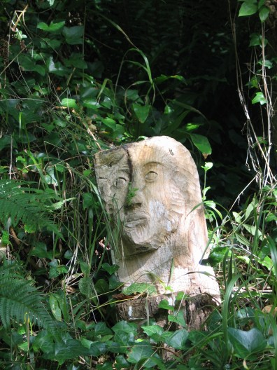 Sculpture in the undergrowth