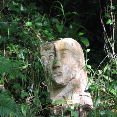 Sculpture in the undergrowth