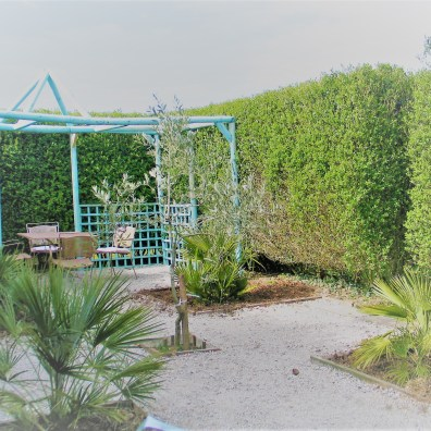 Formal Mediterranean inspired garden layout