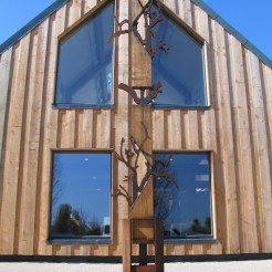 striking contemporary oak framed building
