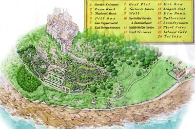 Map of St Michael's Mount garden