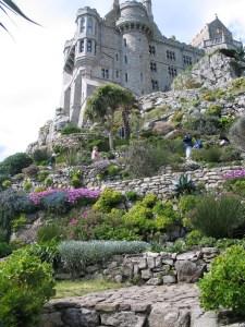 garden terraces of St Michael's Mount garden