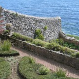 tectural planting in walled garden