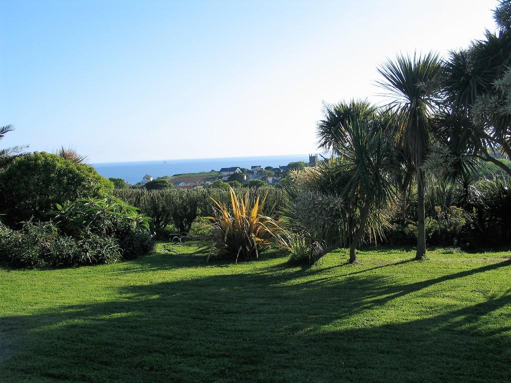 sea view from ednovean farm garden