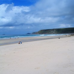 empty white sands - sennen beach