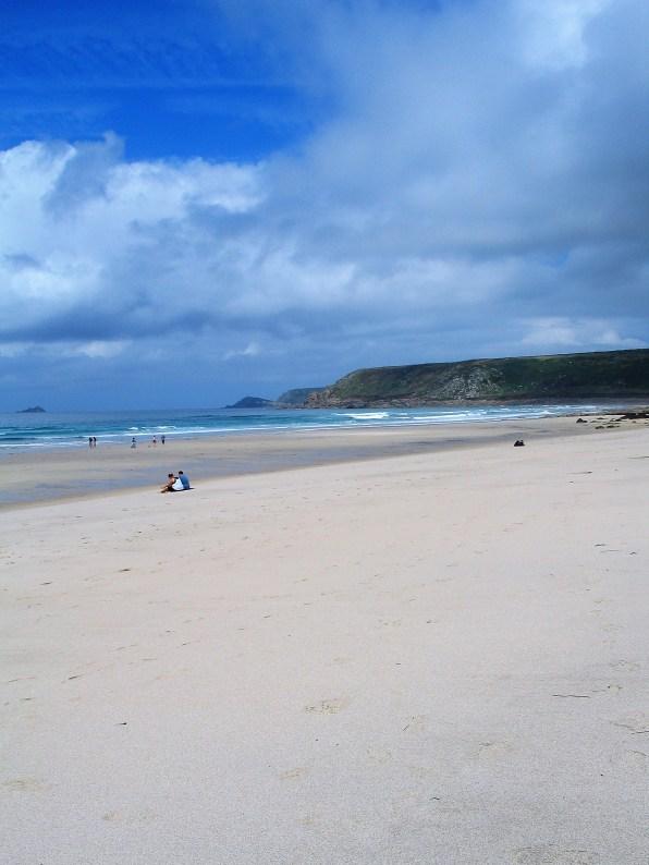 empty white sands - sennen beach