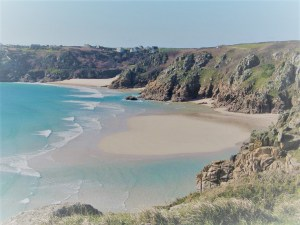 Rosamunde Pilcher's Cornwall of romantic beaches, windswept cliffs and hearts in the sand