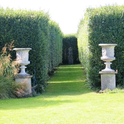 Urns frame Italian Garden Entrance
