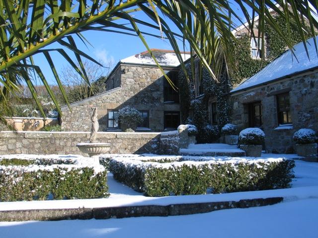 ednovean farm in the snow