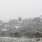 I watched heavy snow nearly hide Perranuthnoe