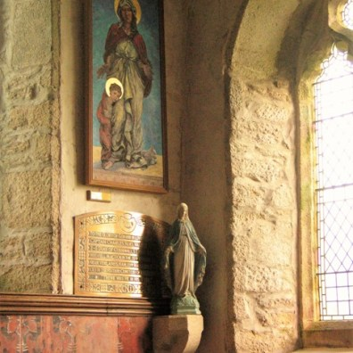 Madonna - detail Godolphin chapel - Breage