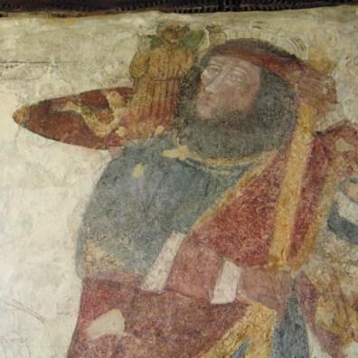 Detail St Christopher - Breage church fresco