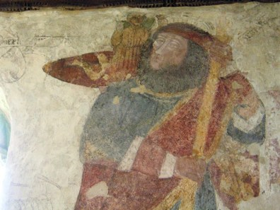 Detail St Christopher - Breage church fresco