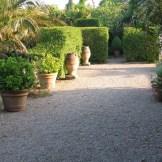 Summer morning gravel terrace