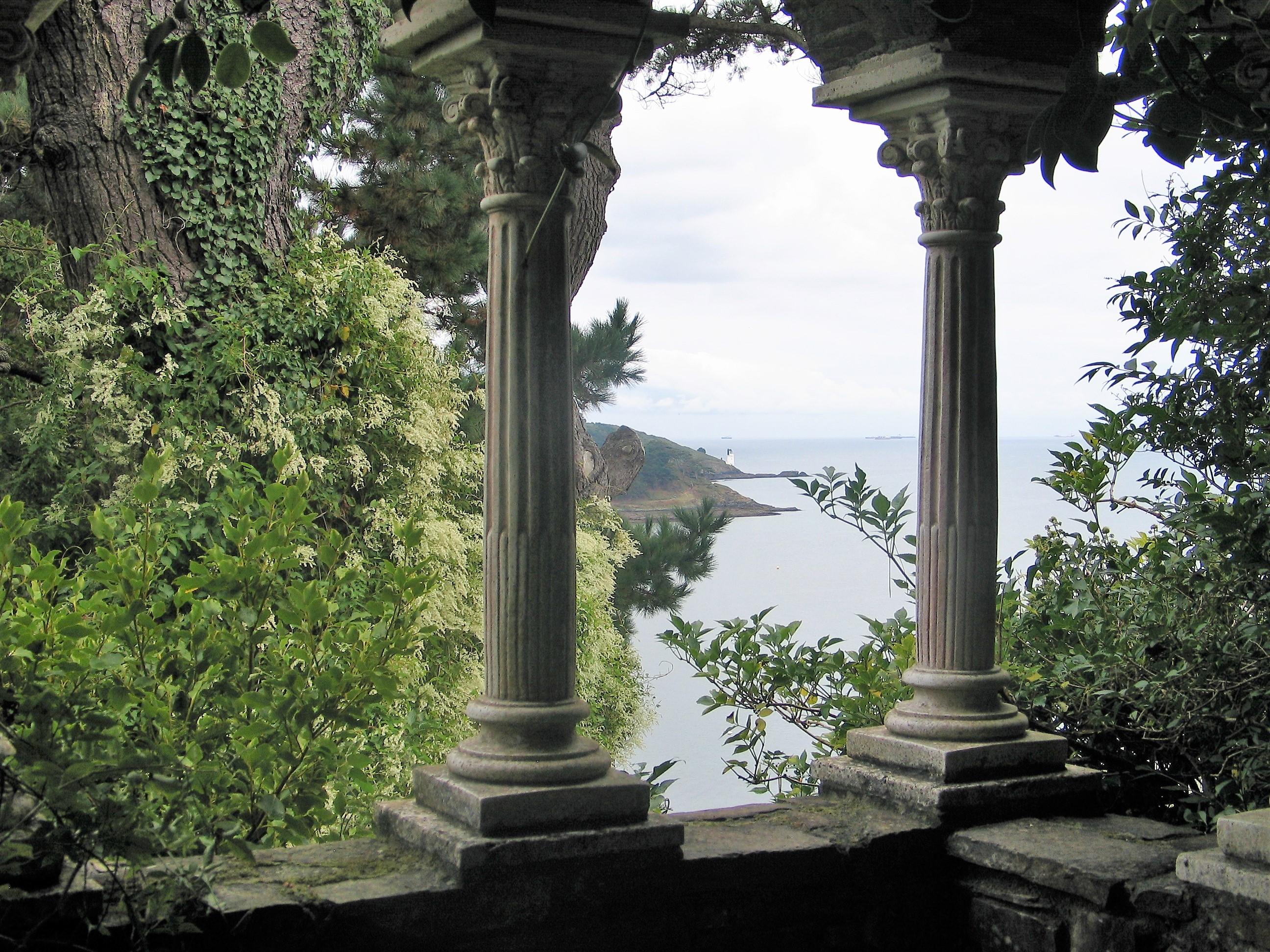 View from Lamorran Garden