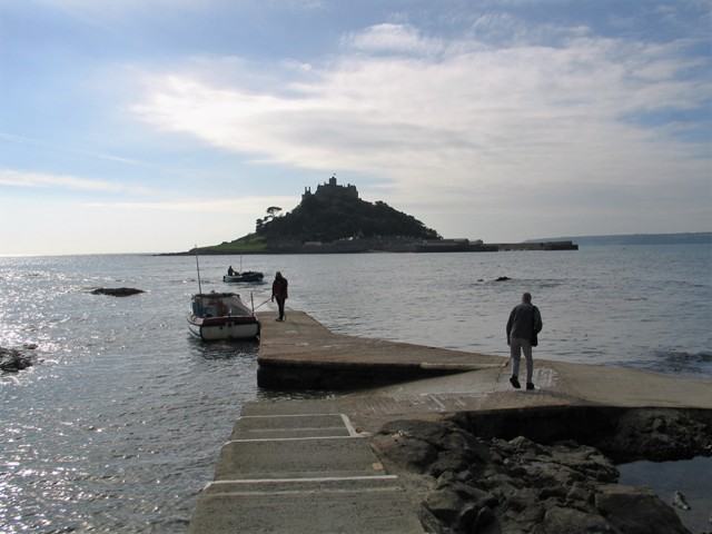 Our visit to St Michael's Mount started with a Boat from the landing stage at Gwalvas