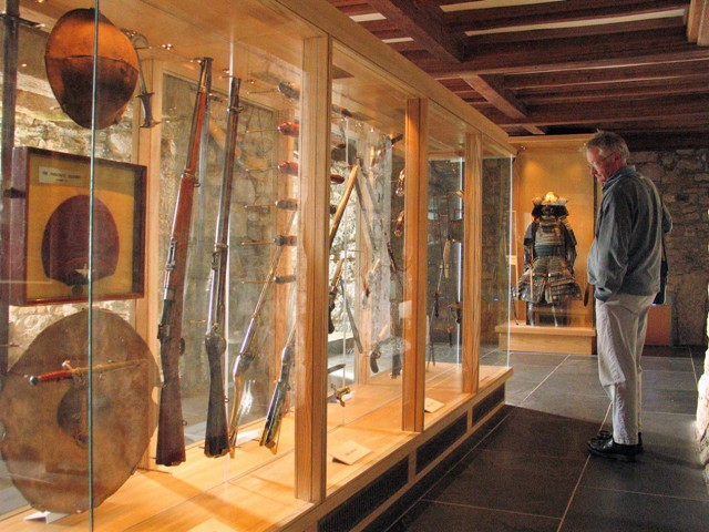 Our visit to St Michael's Mount took us through the Museum room full of display cases