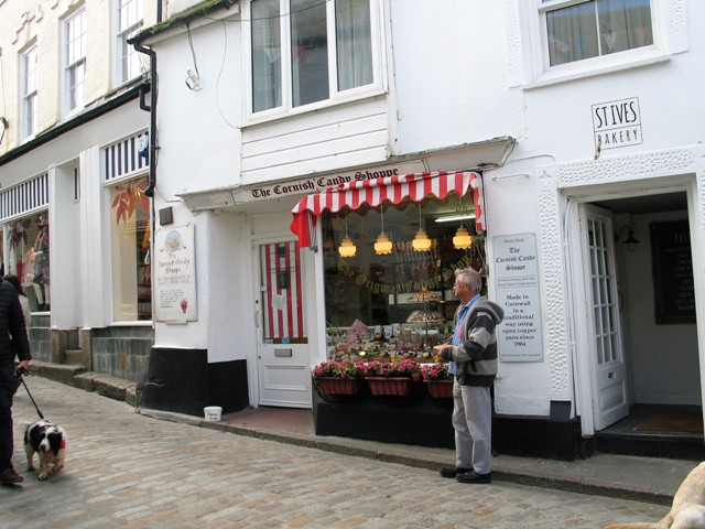 Traditional shopping street St Ives