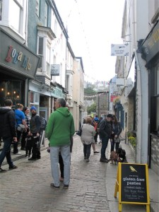 Busy shopping street St Ives