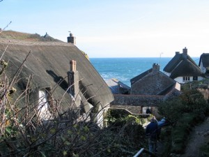 Walking down to Cadgwith passed thatched cottages