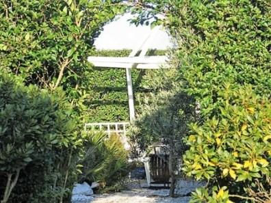 archway in hedge - garden impression