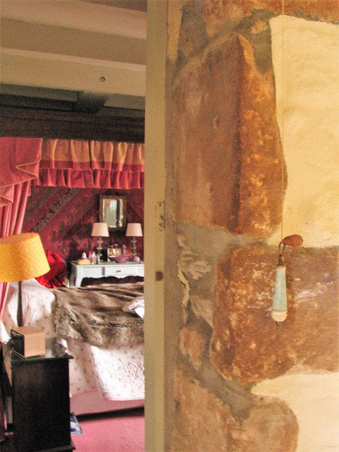 Worn granite doorway