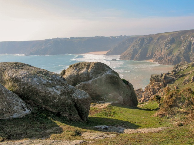 cornish cliff secluded beach