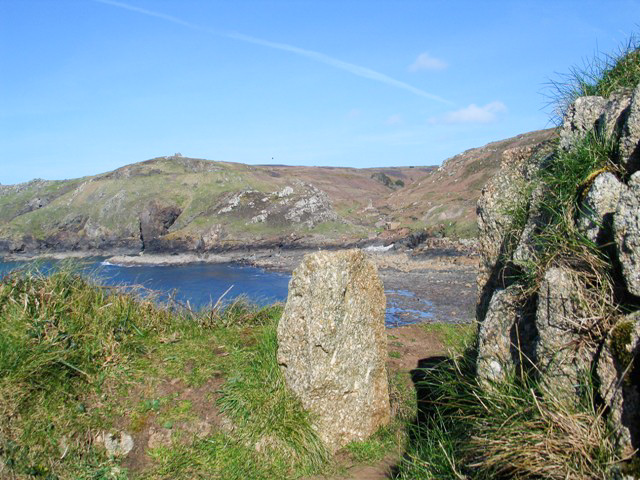 A glimpse to teh next cove beyond teh Headland from the footpath