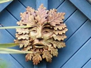 cottage detail - green man