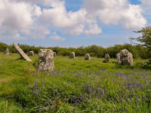 Springtime in Cornwall - bluebells and stone circles