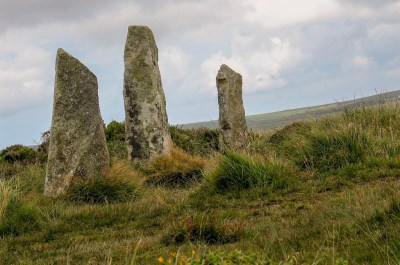 detail of stones of ancient stone circle