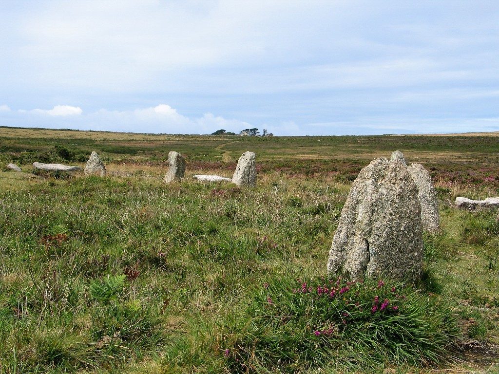 track leading to stone circle