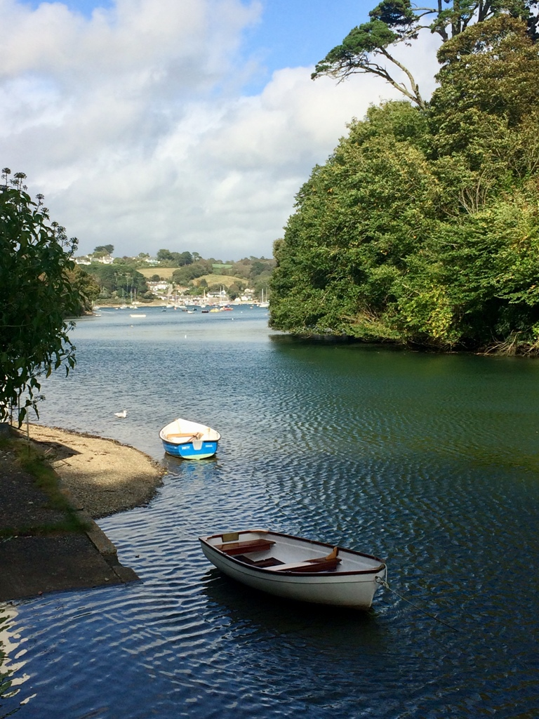 Boats on the Helford river