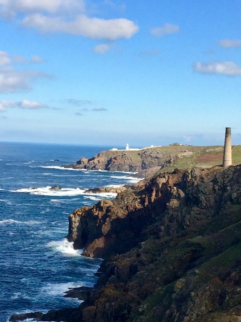 The rugged cornish cliffs