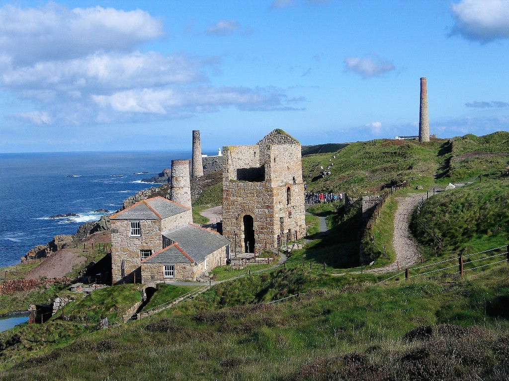 Levant Mine - A restored Engine house - spectacular cliff top location