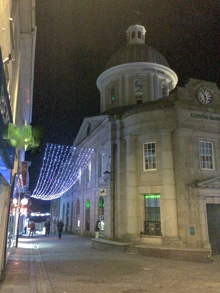 Penzance architecture at night
