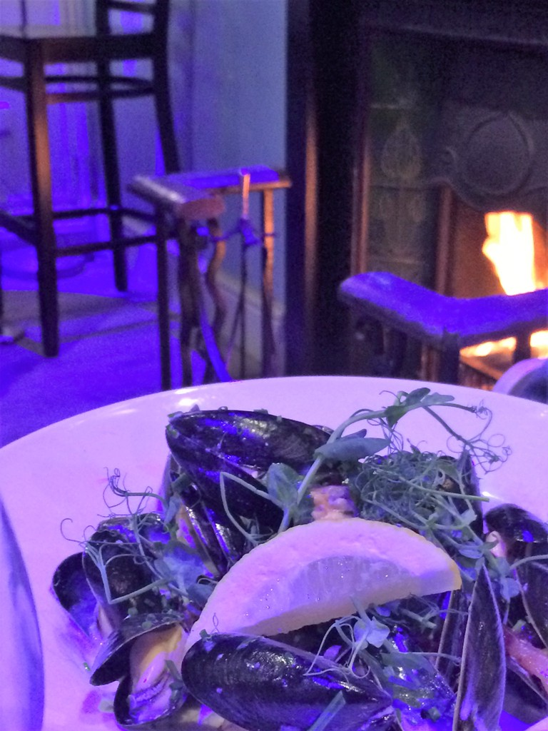 Supper at Blacks beside teh fire perfect for our Little Black Book of places to eat