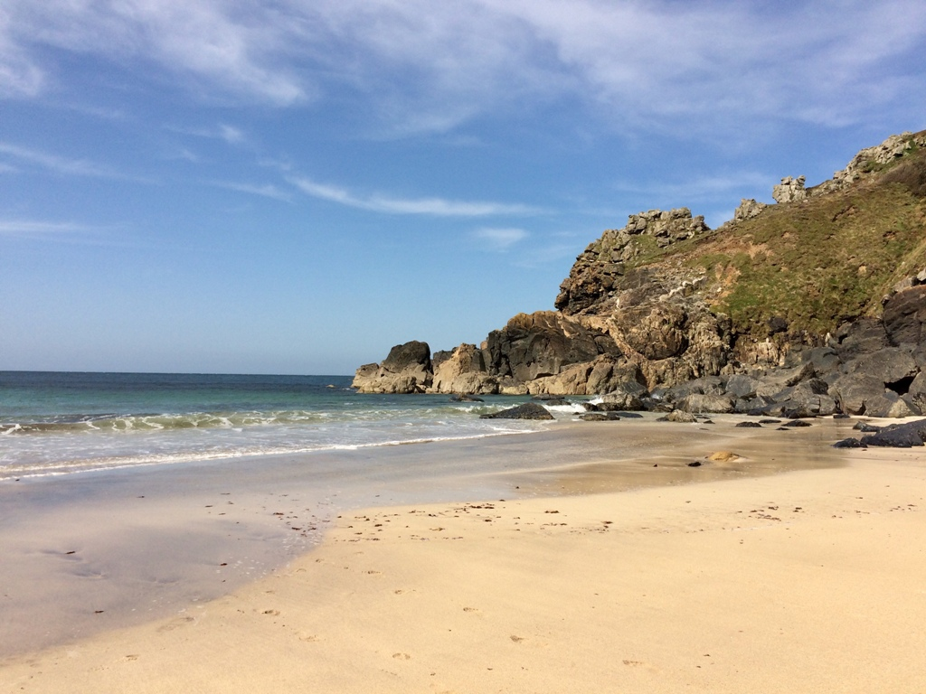 Secluded cove in secret Cornwall