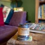 scented candle adds atmosphere to country décor