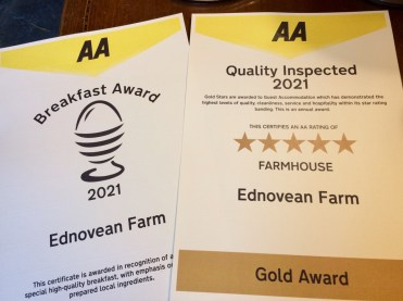 AA quality grading 5 star gold plus fine Breakfast award