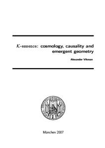 K-essence: cosmology