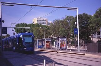 Stations de la ligne 1 du tramway de lagglomration de Montpellier jusquau 6 avril 2012