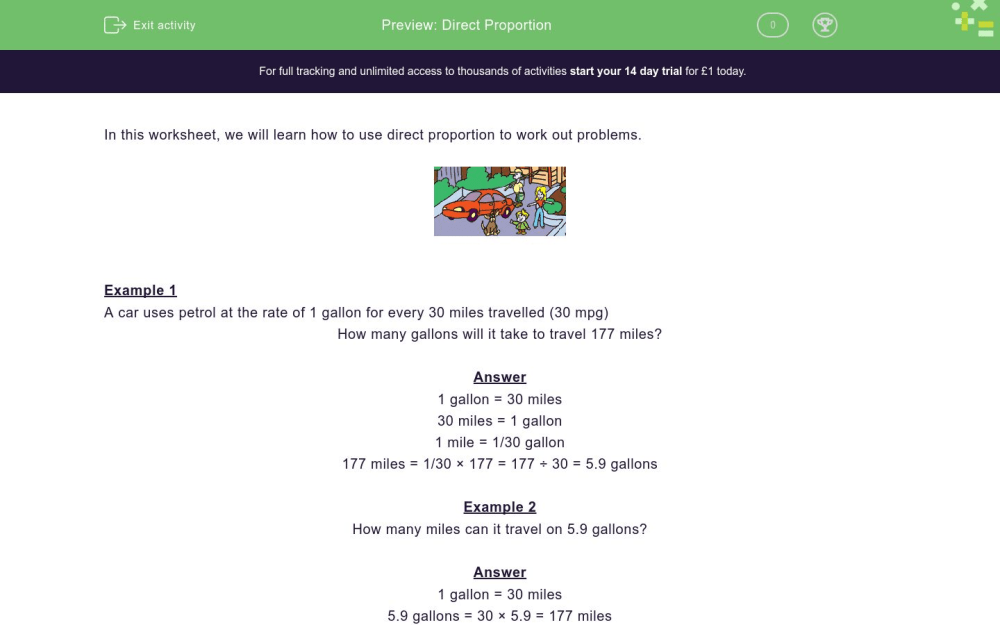 medium resolution of Direct Proportion Worksheet - EdPlace