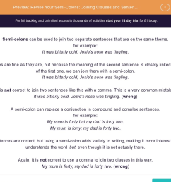 Revise Your Semi-Colons: Joining Clauses and Sentences Worksheet - EdPlace [ 900 x 1440 Pixel ]