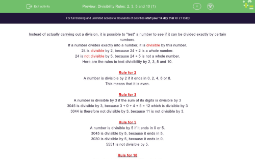 small resolution of Divisibility Rules: 2
