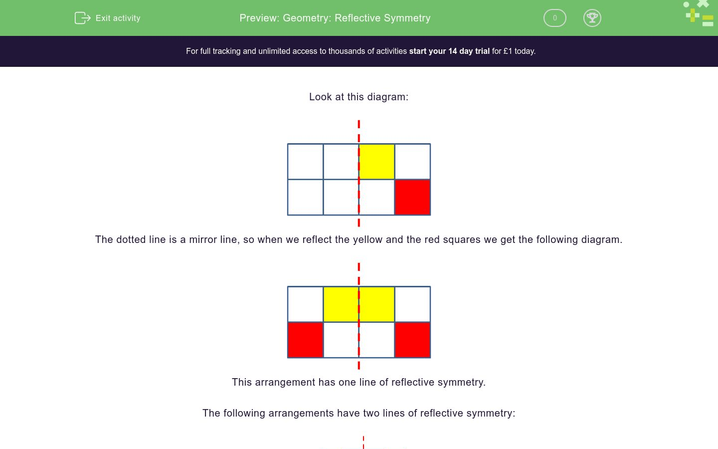Geometry Reflective Symmetry Worksheet