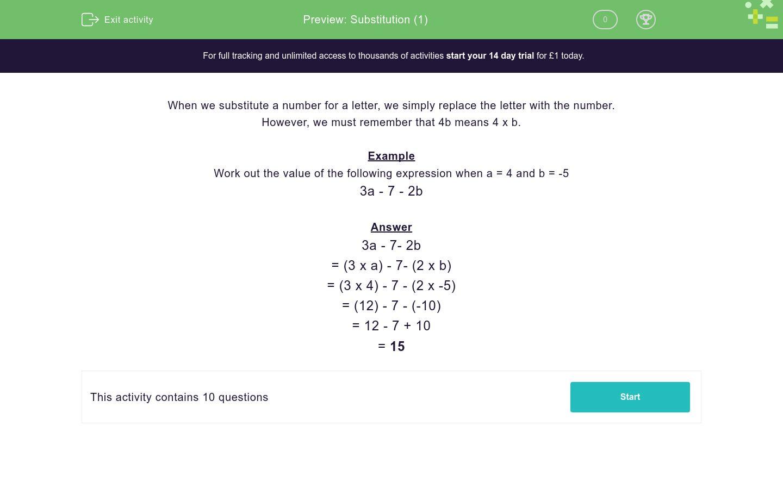 Letter Substitution Worksheet