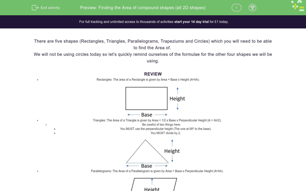 medium resolution of Finding the Area of compound shapes (all 2D shapes) Worksheet - EdPlace